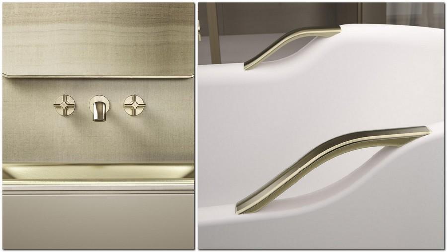 2-2-new-Baa-collection-2017-by-Roca-bathroom-design-by-Giorgio-Armani-luxurious-premium-matte-gold-washbasin-mixer-retro-style-acrylic-bath-bathtub-handles