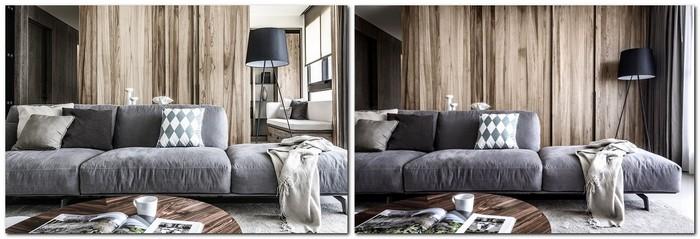 2-contemporary-minimalist-naturalistic-style-interior-design-gray-black-beige-accents-wooden-wall-panels-wood-grain-solid-sliding-door-veneer-living-room