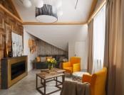 Inspiring & Cozy Naturalistic Attic Interior Design