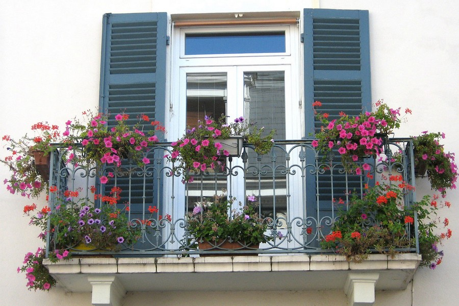25-beautiful-balconet-balconette-Juliet-balcony-in-architecture-exterior-design-wrough-metal-railing-forgery-barrier-flower-bed