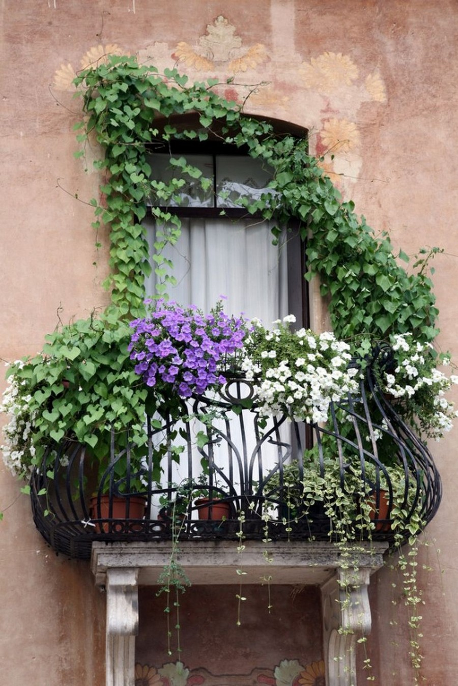 28-beautiful-balconet-balconette-Juliet-balcony-in-architecture-exterior-design-wrough-metal-railing-forgery-barrier-flower-bed
