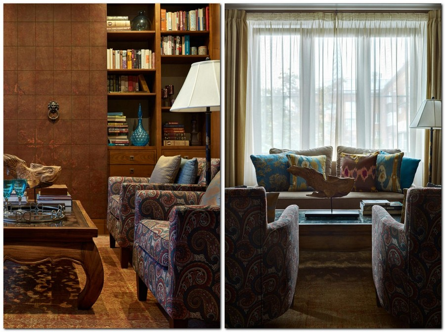 3-2-neo-classical-style-living-room-interior-with-ethnic-motifs-Central-Asian-Uzbek-Portuguese-dark-colors-blue-red-purple-bookcase-wooden-carved-coffee-table-floor-lamp-arm-chairs-sofa-rug