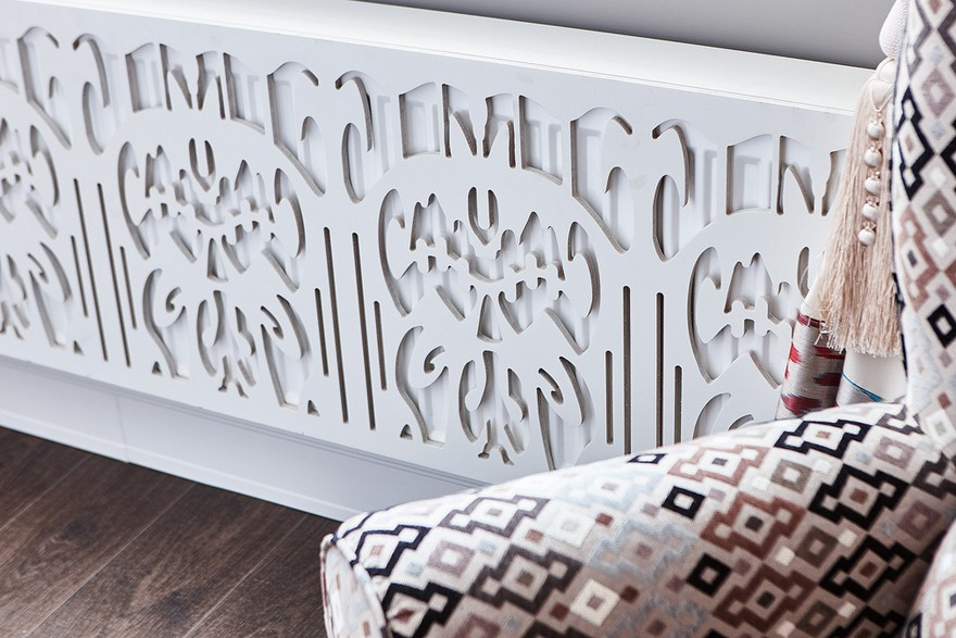 3-3-carved-radiator-cover-decorative-white-with-oriental-ikat-pattern-Uzbek-central-Asian-motifs