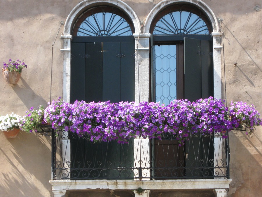 31-beautiful-balconet-balconette-Juliet-balcony-in-architecture-exterior-design-wrough-metal-railing-forgery-barrier-flower-bed