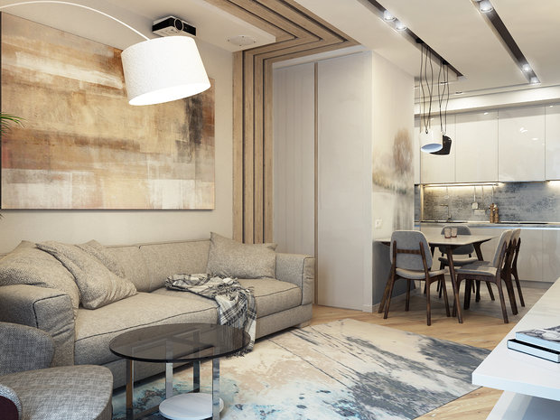 Contemporary-Style Family Apartment in Natural Colors ...