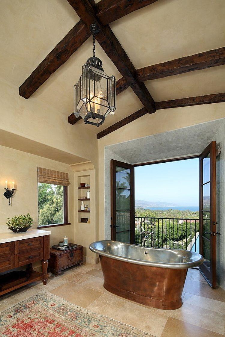 41-beautiful-balconet-balconette-Juliet-balcony-in-interior-design-wrough-metal-railing-forgery-barrier-Mediterranen-bathroom-metal-bath