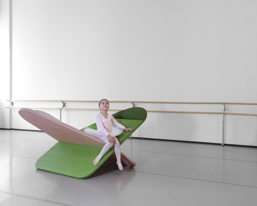 6-3-Joynout-Daydream-creative-seat-sitting-furniture-design-2017-Assaf-Israel-green-and-pink-small-girl-ballet-dancer