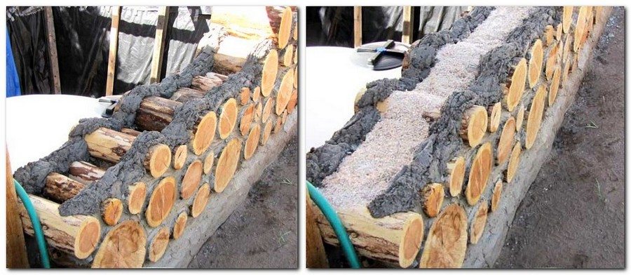 6-cordwood-technology-technique-eco-friendly-house-construction-building-walls-mortar-mix-insulation-sawdust