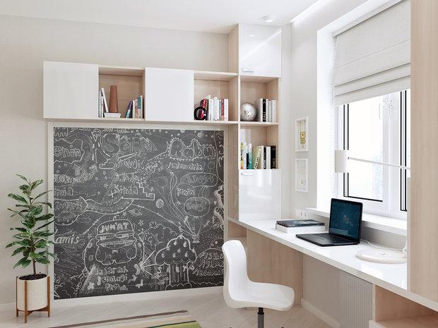 7-3-contemporary-style-interior-design-white-beige-gray-study-work-area-cabinetry-storage-blackboard-desk