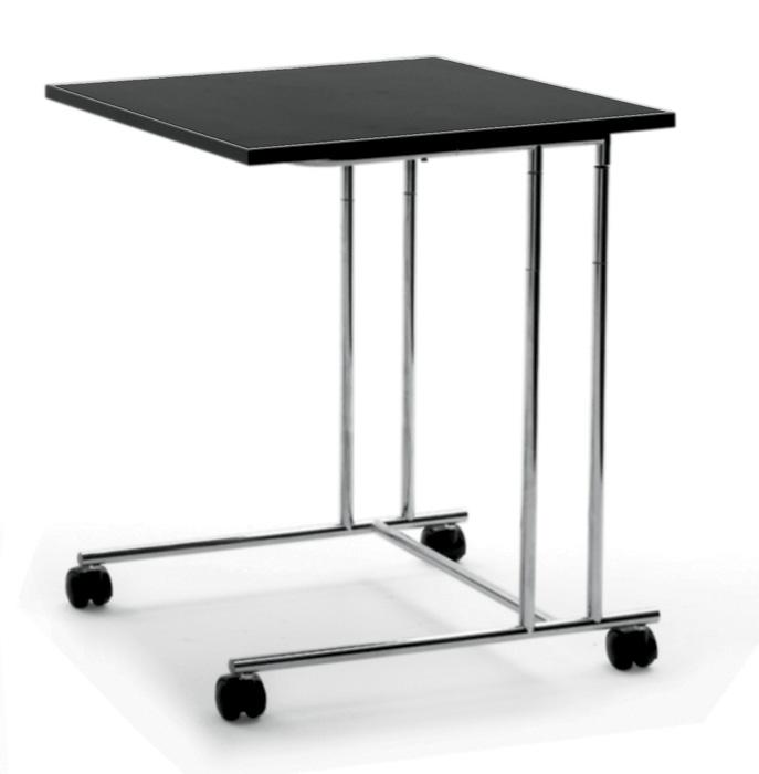 7-serving-trolley-black-oak-veneer-laconic-design-steel-legs-one-tier-Arflex-design-by-Cini-Boeri