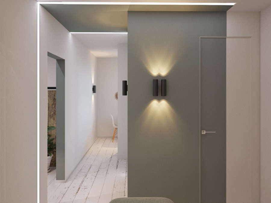 1-gray-and-white-contemporary-style-corridor-hallway-interior-design-bi-color-invisible-door-wall-lights-lamp-sconce-white-aged-floor