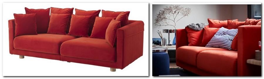 11-red-orange-velvet-sofa-couch-throw-pillows-velvet-by-IKEA-Sweden-new-collection-Stockholm-2017