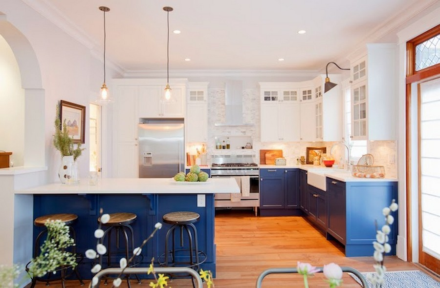 15-blue-kitchen-cabinets-set-interior-white-top-cabinets-with-glass-inserts-blue-base-cabinets-white-worktop-countertop-walls-island-traditional-style-panels