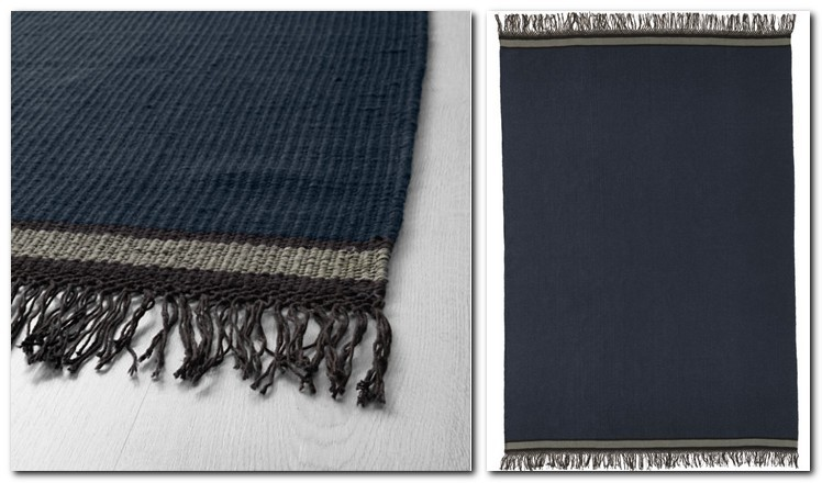 19-pile-less-carpet-rug-handmade-dark-blue-with-a-fringe-by-IKEA-Sweden-new-collection-Stockholm-2017