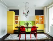 Bright Multicolor Apartment in Mid-Century Modern Style