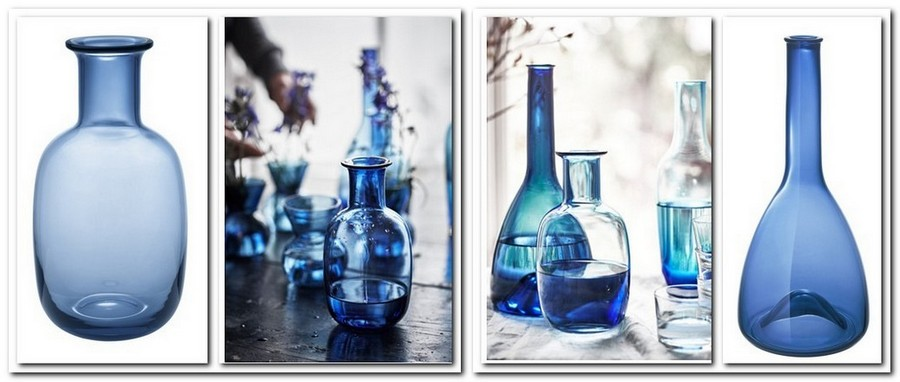 2-3-hand-blown-glass-blue-water-bottle- carafe-decanter-by-IKEA-Sweden-new-collection-Stockholm-2017