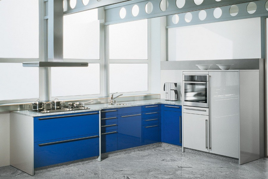 blue gloss kitchen cabinets 20 trendy blue kitchen sets in interior design home 4811