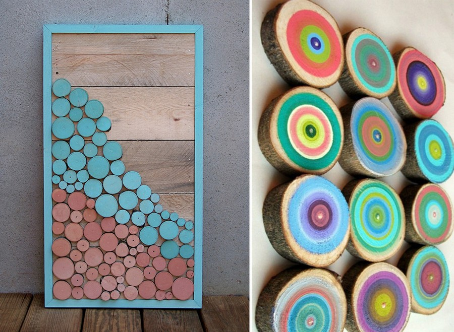 3-3-tree-wood-cross-sections-cuts-in-interior-design-decor-wall-art-picture-frame-painted-multicolor