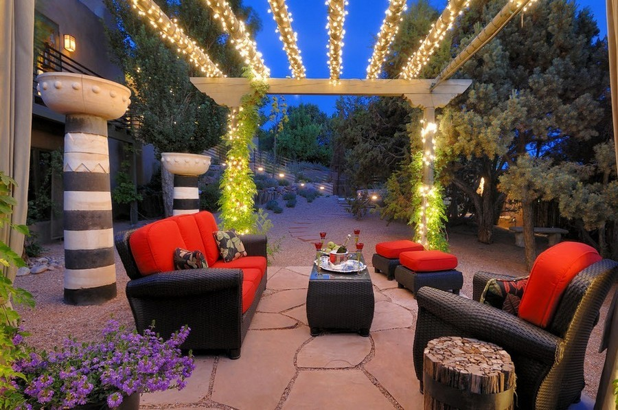 4-10-outdoor-garden-landscape-lighting-ideas-rope-string-holiday-lights-bulbs-gazebo-rattan-furniture-brown-table-sofas-arm-chairs