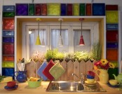 Sunny Mediterranean-Style Kitchen on a Country House Veranda