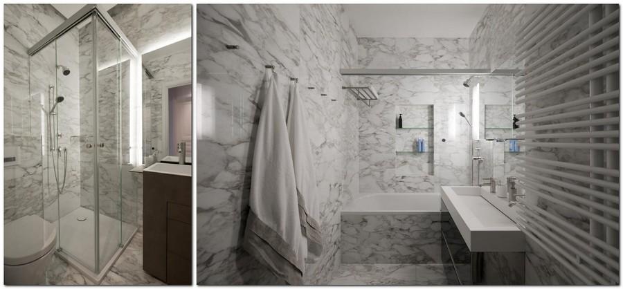 5-American-style-interior-bathroom-marble-floor-walls-white-Calacatta-brown-wash-basin-cabinets