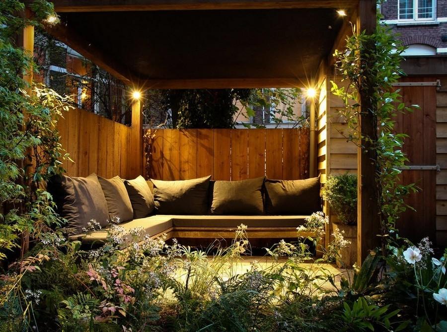 6-6-outdoor-garden-landscape-lighting-ideas-house-illumination-gazebo-wooden-bench-throw-pillows