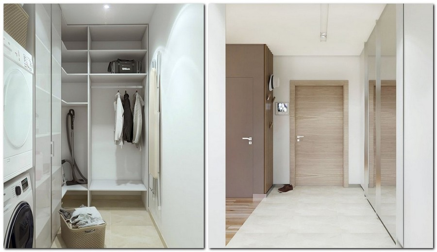 7-1-contemporary-style-interior-design-pantry-invisible-door-laundry-walk-in-closet-beige-walls-floor-corridor-big-full-length-mirror