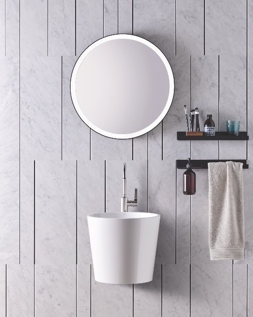 7-Alape-new-bathroom-collection-Scopio-elegant-wall-mounted-washbasin-conical-base-round-sink