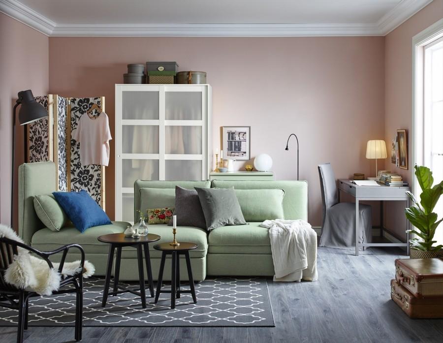 10-modular-pastel-pale-green-three-seat-Vallentuna-sofa-by-IKEA
