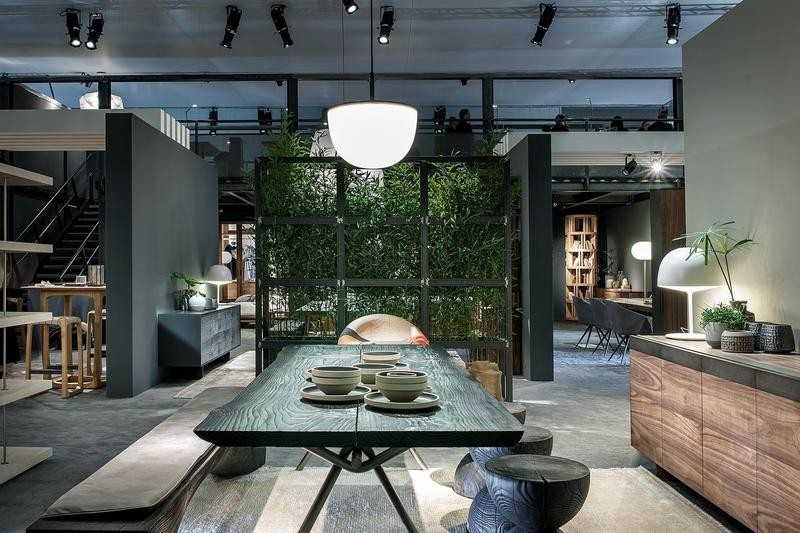 2-1-Riva-1920-new-collection-of-contemporary-style-furniture-at-Salone-de-Mobile-Exhibition-Milan-2017-dining-room-set-wooden-table-bench-stools