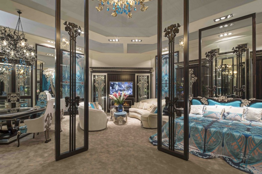 2-4-Medea-Liberty-collection-new-collection-of-contemporary-style-furniture-at-Salone-de-Mobile-Exhibition-Milan-2017-gorgeous-luxurious-bedroom-living-room-dining-set-bed-blue-and-beige-glass-door-sofa-curtains