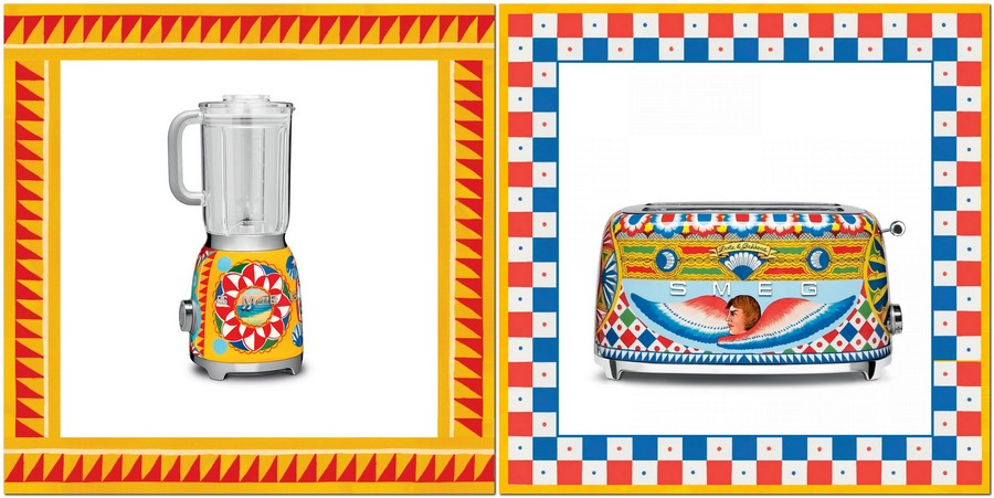 2-new-collection-of-domestic-kitchen-appliances-by-Smeg-and-Dolce-Gabbana-2017-Sicily-is-My-love-made-in-italy-bright-ethnic-floral-motifs-creative-design-toaster-blender-yellow-red-blue