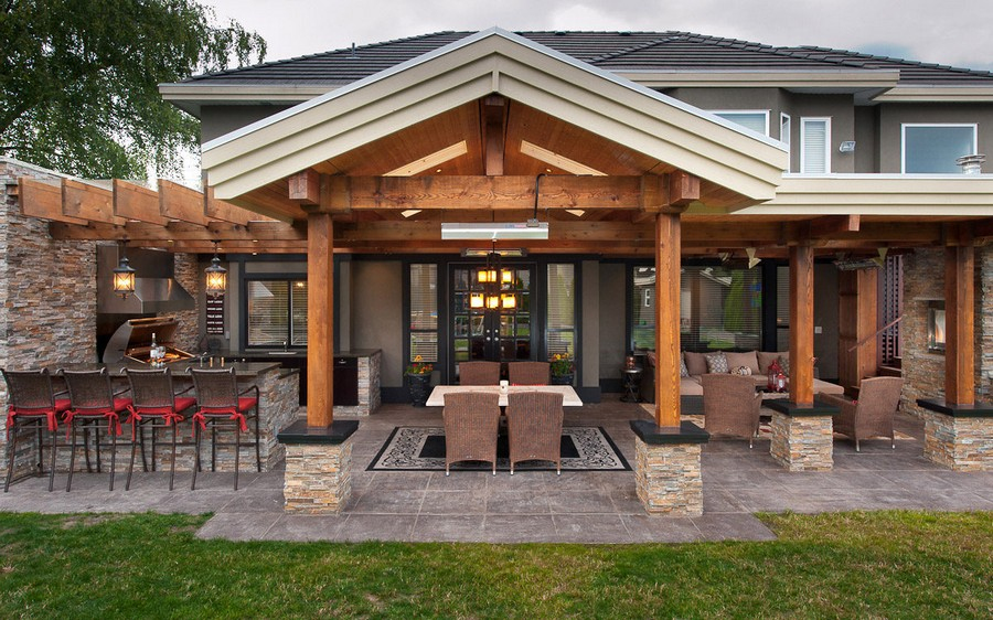 4-1-outdoor-summer-kitchen-interior-design-ideas-on-a-terrace-metal-cabinets-dining-area-lounge-area-sofa-wicker-furniture-table-chairs-bar-stools-lanterns
