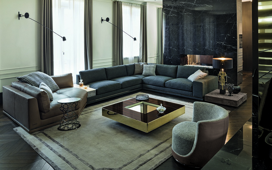 4-3-Longhi-new-collection-of-contemporary-style-furniture-at-Salone-de-Mobile-Exhibition-Milan-2017-living-room-interior-design-set-arm-chairs-sofa-gray-coffee-table-rug