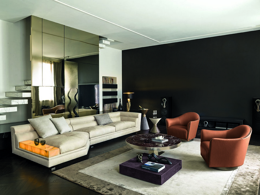 4-4-Longhi-new-collection-of-contemporary-style-furniture-at-Salone-de-Mobile-Exhibition-Milan-2017-living-room-interior-design-corner-sofa-with-stone-armrest-coffee-tables-arm-chairs-rug