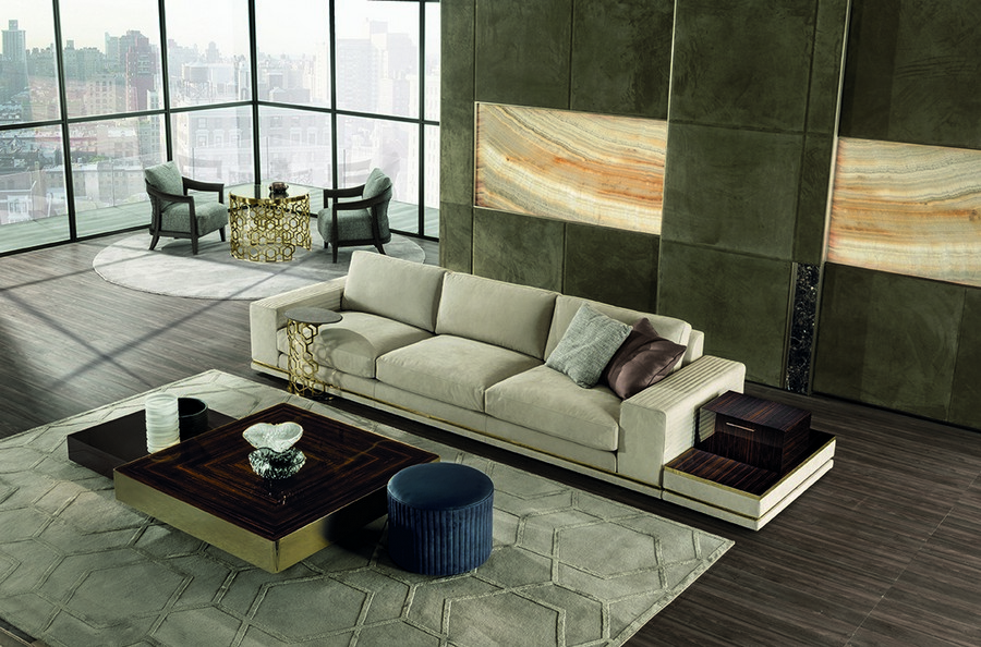 4-6-Longhi-new-collection-of-contemporary-style-furniture-at-Salone-de-Mobile-Exhibition-Milan-2017-beige-sofa-living-room-set-rug-coffee-table-arm-chairs-interior-design