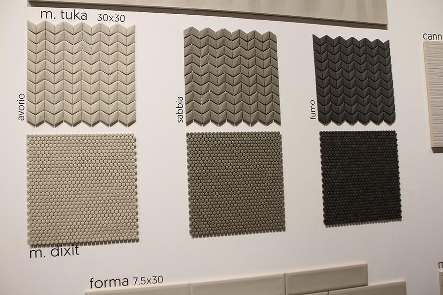 4-7-ceramic-tiles-mosaic-samples-beige-gray-black-herringbone-pattern-Saloni-brand-collection-2017