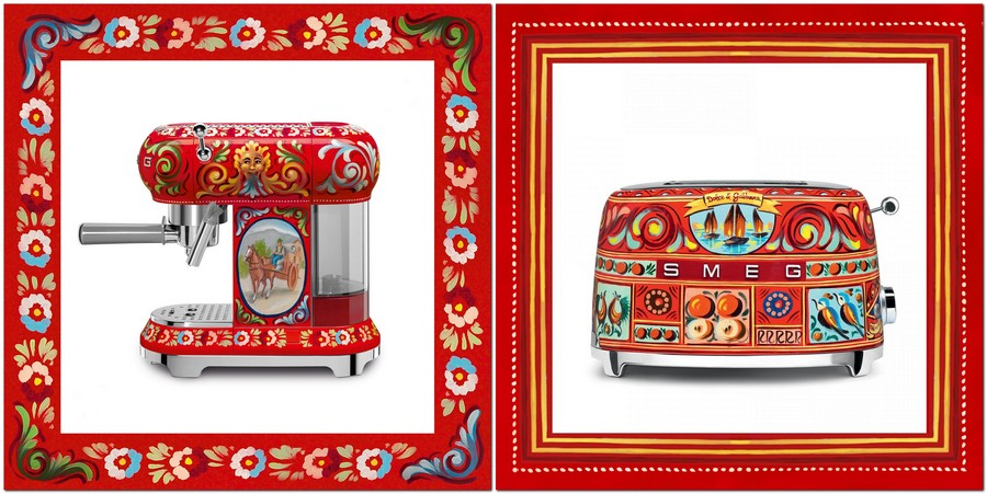 4-new-collection-of-domestic-kitchen-appliances-by-Smeg-and-Dolce-Gabbana-2017-Sicily-is-My-love-made-in-italy-bright-ethnic-floral-motifs-creative-design-toaster-coffee-machine-red-blue-yellow