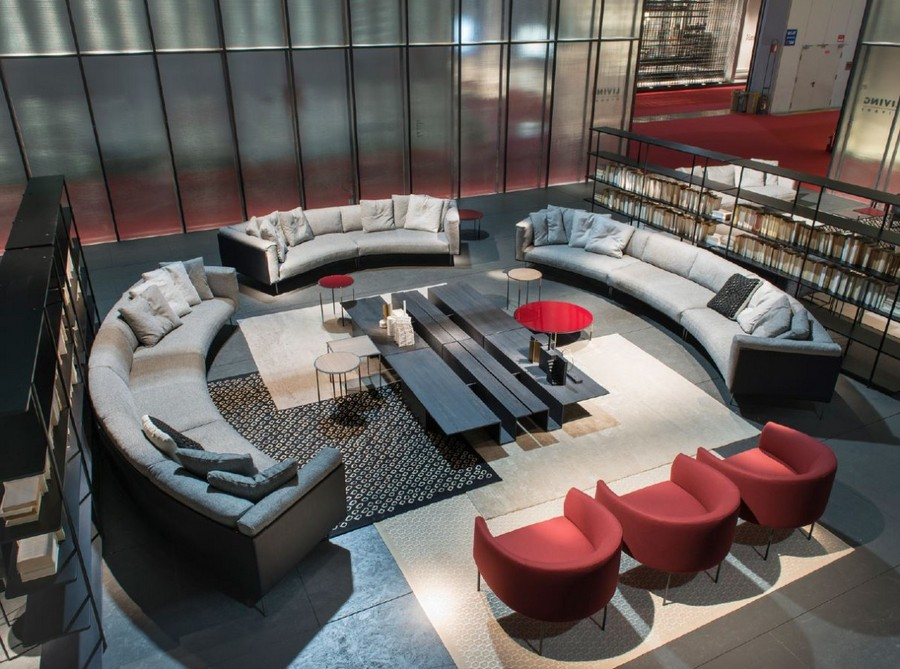 5-1-Living-Divani-new-collection-of-contemporary-style-furniture-at-Salone-de-Mobile-Exhibition-Milan-2017-rounded-circular-gra-sofas-red-arm-chairs-long-coffee-tables-living-room-interior-design