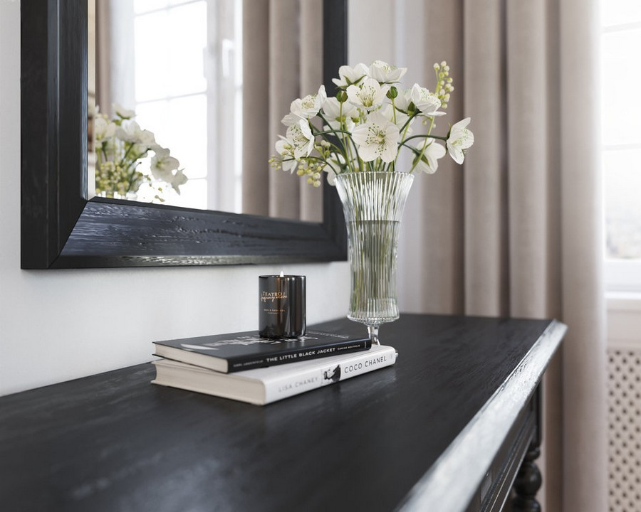 5-3-dark-brown-bedroom-home-decor-details-console-table-top-flowers-books-mirror-frame
