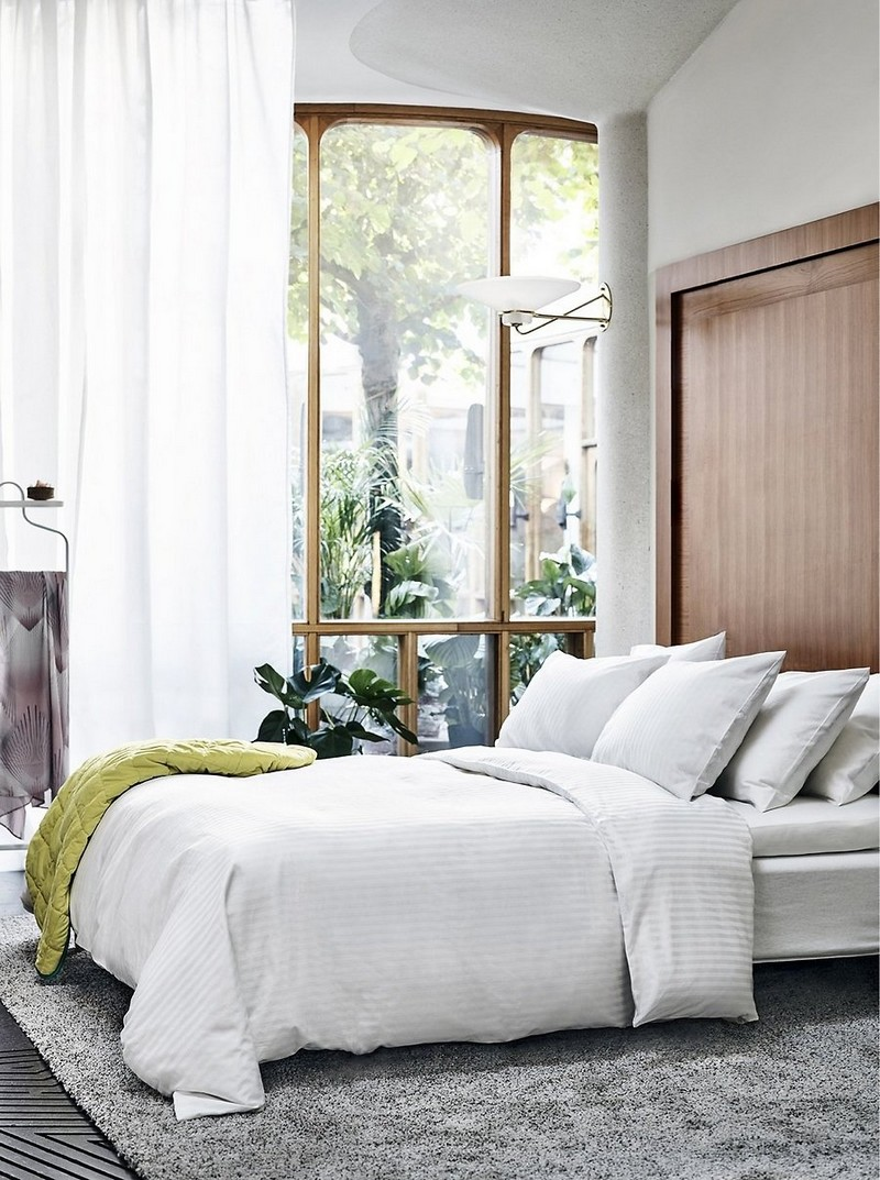5-IKEA-white-and-gray-stripes-bed-linen-set-bedclothes-summer-collection-2017