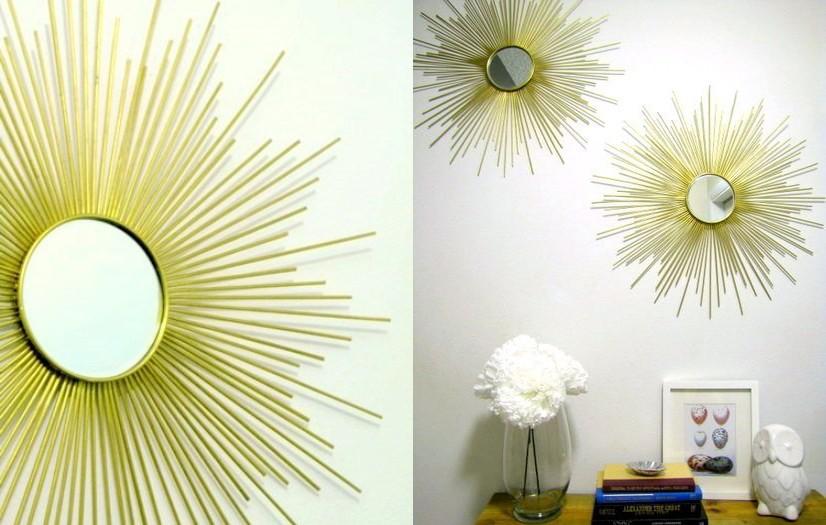 5-golden-DIY-handmade-Sunburst-sun-shaped-mirror-from-bamboo-wooden-skewers-sticks-brass