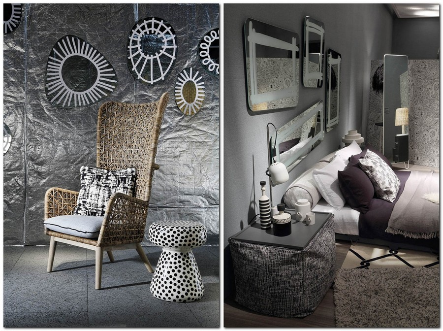 6-4-Gervasoni-new-collection-of-contemporary-style-furniture-at-Salone-de-Mobile-Exhibition-Milan-2017-wicker-arm-chair-asymmetrical-mirrors-upholstered-bed-coffee-table-bedroom-interior-design