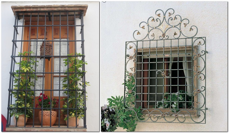 6-wrought-iron-blacksmith-forged-window-security-bars-flower-pots-beautiful-pattern