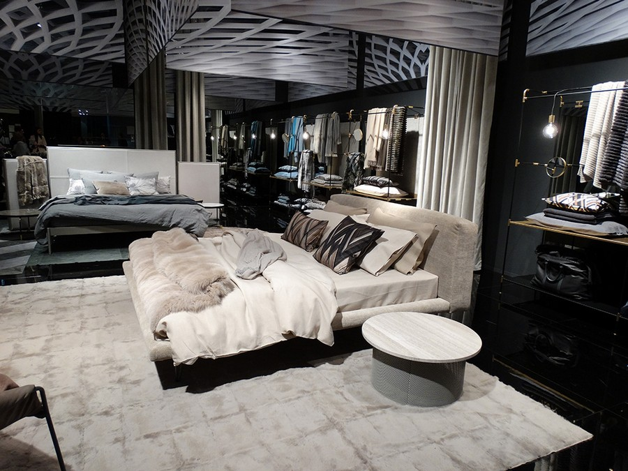 7-1-Ivanoredaelli-new-collection-of-contemporary-style-furniture-at-Salone-de-Mobile-Exhibition-Milan-2017-beige-gray-bedroom-interior-design-bed-linen-fur-blanket