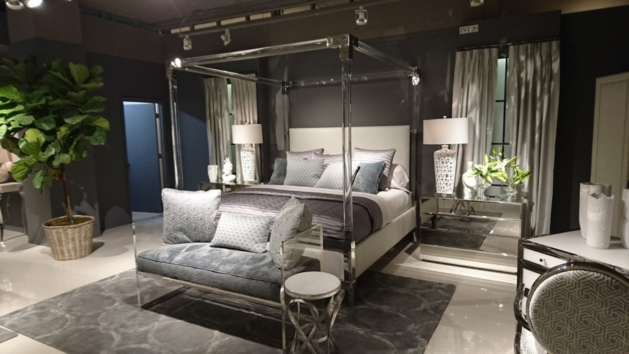 7-1-gray-and-blue-bedroom-set-suite-transparent-acrylic-canopy-bed-framework-couch-coffee-table-mirrored-nightstands-bedside-tables-lamps-furniture