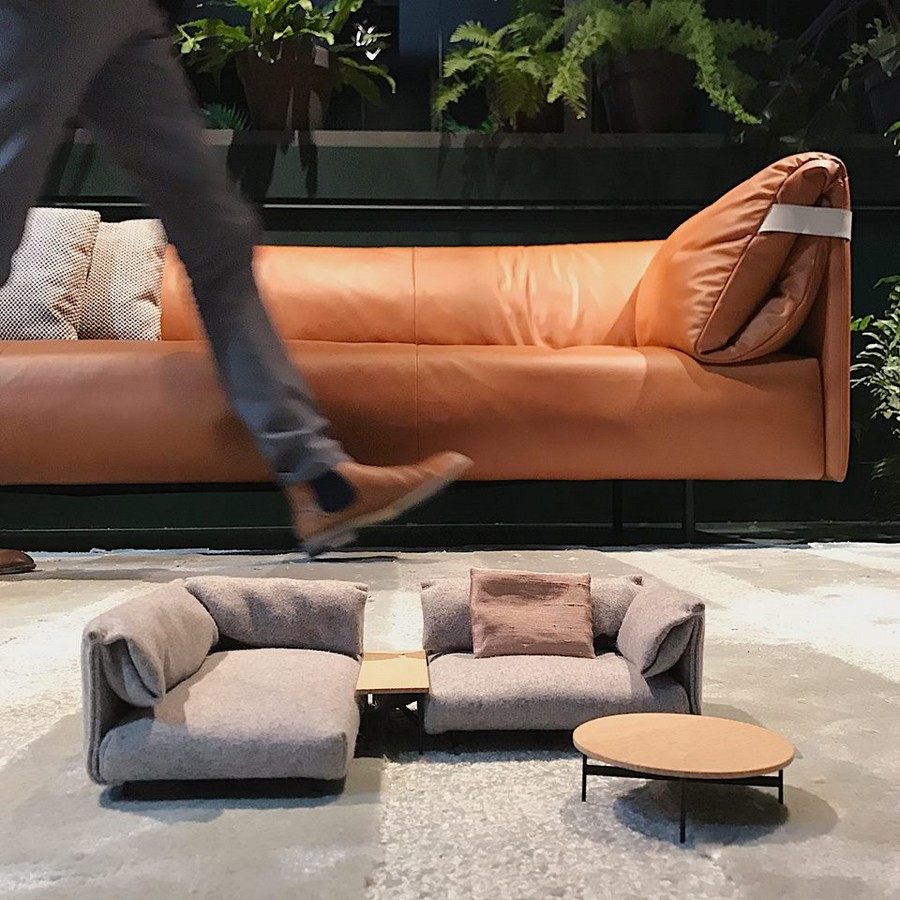 8-1-Rolf-Benz-new-collection-of-contemporary-style-furniture-at-Salone-de-Mobile-Exhibition-Milan-2017-orange-leather-sofa-soft