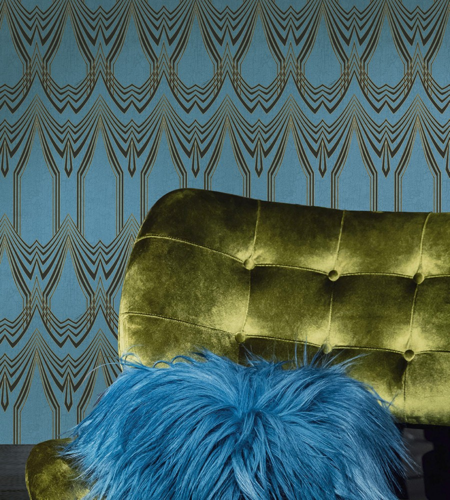 8-6-Roberto-Cavalli-Home-Interiors-new-collection-of-contemporary-style-furniture-at-Salone-de-Mobile-Exhibition-Milan-2017-green-velvet-arm-chair-blue-wallpaper-fur