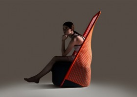 0-Cradle-Moroso-design-by-Benjamin-Hubert-minimalistic-minimalist-style-furniture-red-arm-chair-innovative-net-upholstery-fabric-stretchy