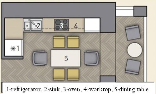 0-narrow-kitchen-layout-plan-scheme-with-furniture-refrigerator-worktop-sink-oven-recessed-balcony-exit-loggia-dining-zone-6-seat-person-herringbone-parquet-floor